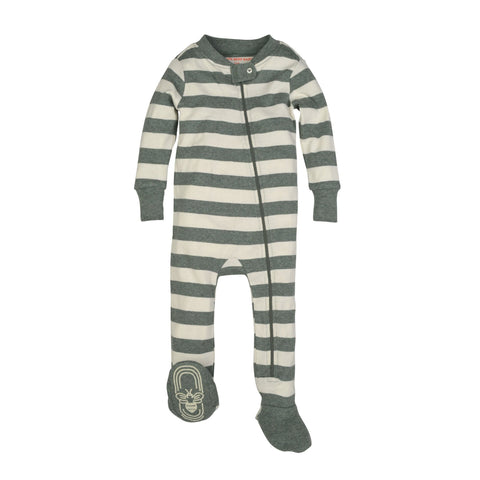 stripe sleeper - heather