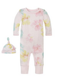 morning glory ruffle coverall & hat set