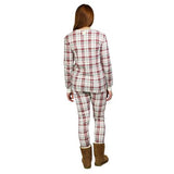 women's plaid pajama set