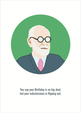 freud birthday card