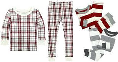 Ivory Plaid Organic Pajama Set