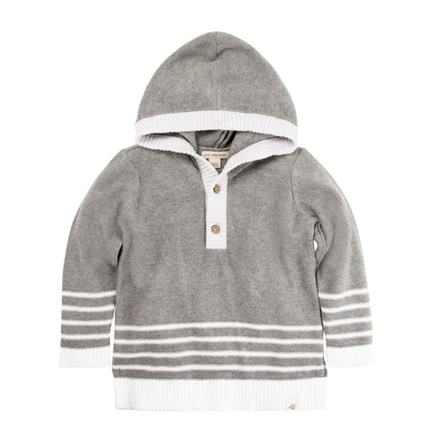 organic hooded cotton sweater