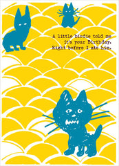 kitty cats birthday card