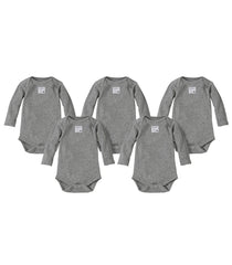 organic long-sleeve bodysuit - heather grey
