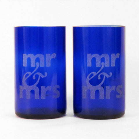 Mr + Mrs upcycled tumblers