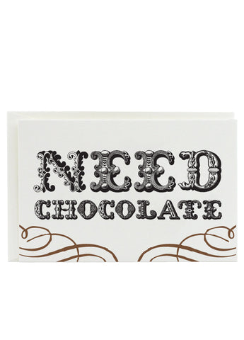 need chocolate note cards