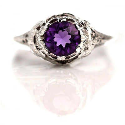 Amethyst Engagement Ring Stone Symbolism and Meanings
