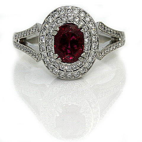 Vintage Burma Ruby Engagement Ring