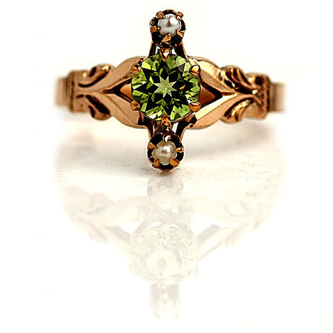 https://vintagediamondring.com/collections/vintage-antique-peridot-engagement-rings