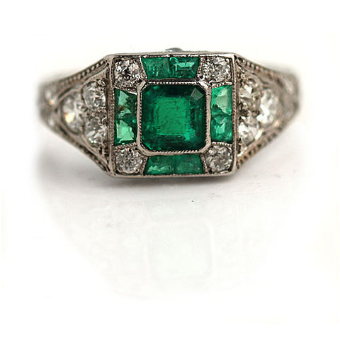 https://vintagediamondring.com/collections/vintage-antique-emerald-engagement-rings/products/art-deco-emerald-and-diamond-engagement-ring-circa-1930s?variant=28345335447616