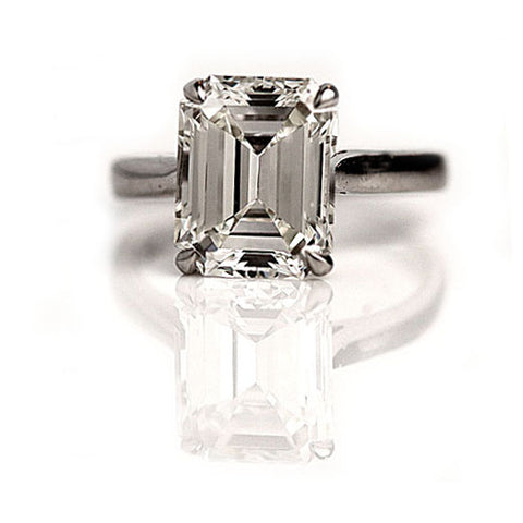 Vintage emerald cut ring
