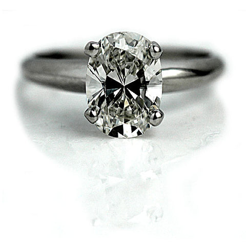 Vintage Oval Cut Engagement Ring