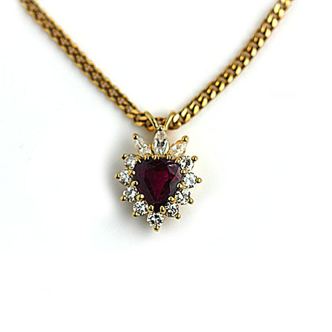 Vintage Ruby Necklace