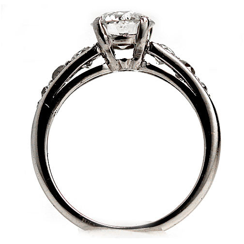 1.21 Carat Vintage Diamond Ring in Platinum