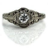 Rare Art Deco Solitaire Engagement Ring