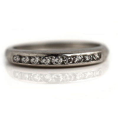 Antique Channel Set Diamond Wedding Band