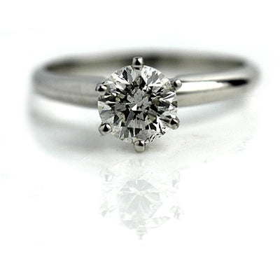 Vintage Six Prong Solitaire Diamond Engagement Ring