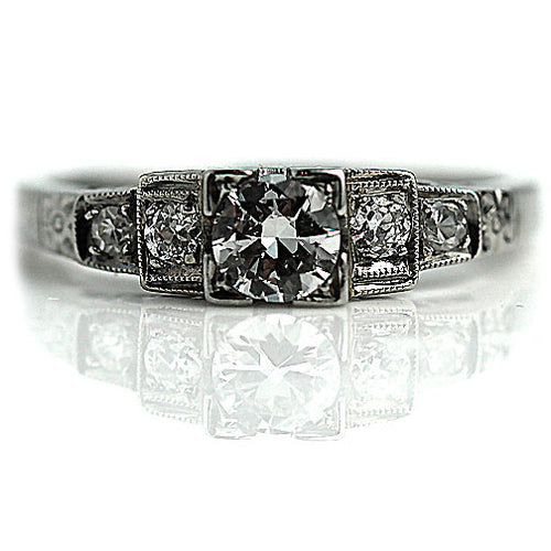 Art Deco Diamond Engagement Ring Circa 1920's