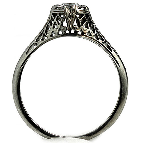Art Deco Diamond .30 Carat Solitaire Ring