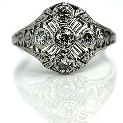 Vintage Oscar Heyman Diamond Engagement Ring