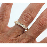 Mid-Century .55 Carat Baguette Diamond Wedding Band