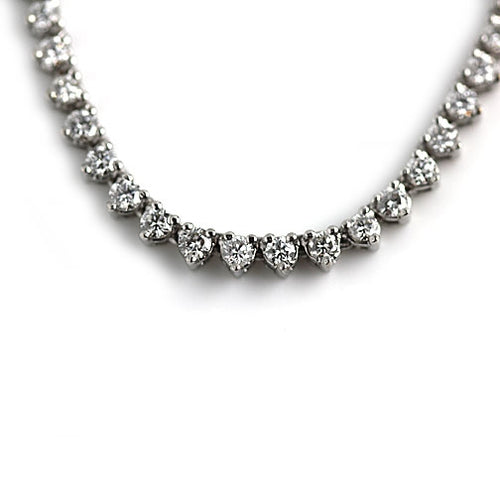 Estate Straight Line Diamond Necklace 7.70 Carat
