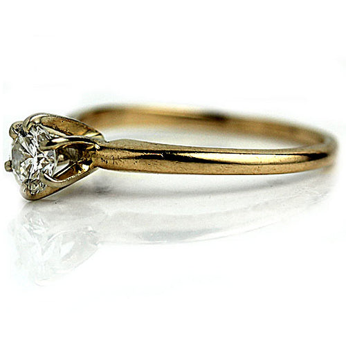 Vintage .50 Carat Round Cut Solitaire Diamond Ring