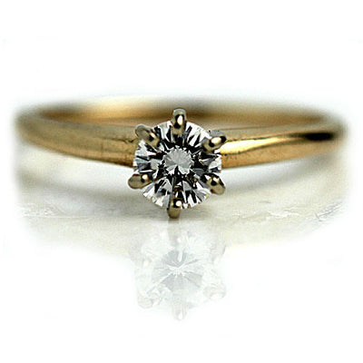 Vintage .54 Carat GIA Solitaire Engagement Ring