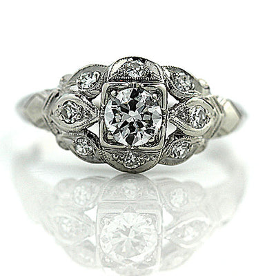 Intricate 1930s Diamond Engagement Ring