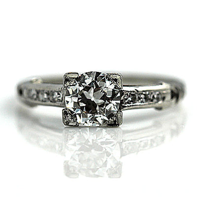 Prong Set Diamond Art Deco Engagement Ring