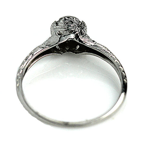 .75 Carat Antique Engagement Ring Platinum