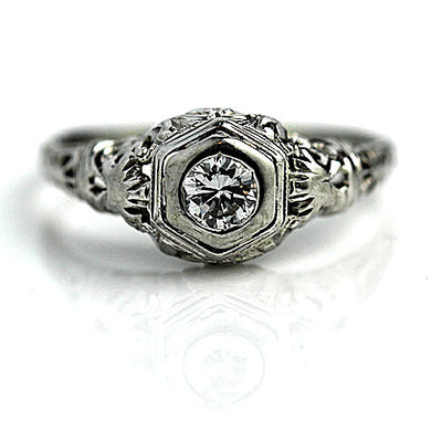 Transitional Cut Solitaire Engagement Ring