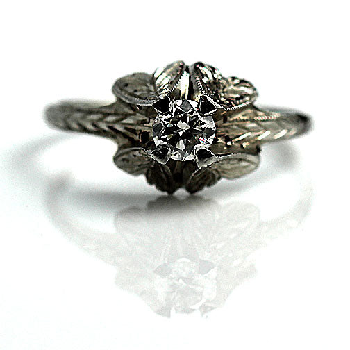 Antique Solitaire Engagement Ring .30 Carat