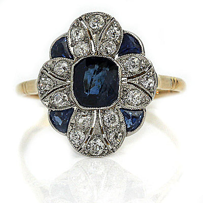 Edwardian Sapphire & Diamond Engagement Ring