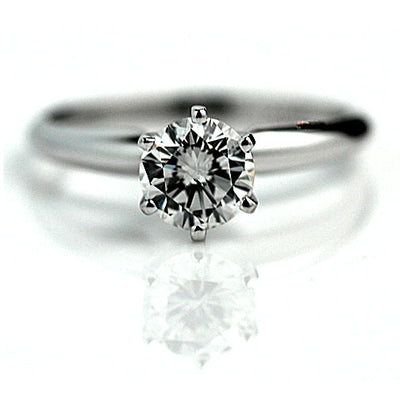 1.02 ct GIA Solitaire Round Diamond Engagement Ring
