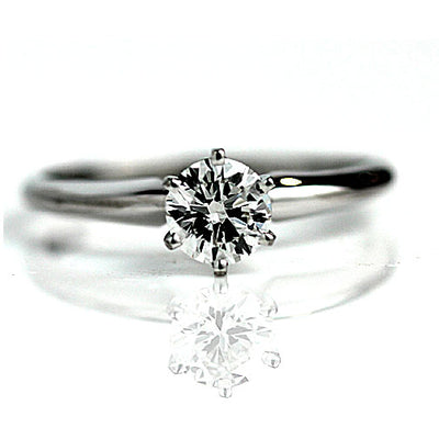 Vintage .60 Carat GIA Round Diamond Solitaire Engagement Ring