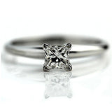 Vintage .57 Carat GIA Princess Cut Diamond Ring