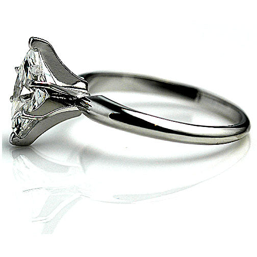 Marquis Solitaire Diamond Engagement Ring
