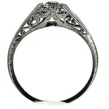 .35 Carat Antique Engagement Ring in Platinum