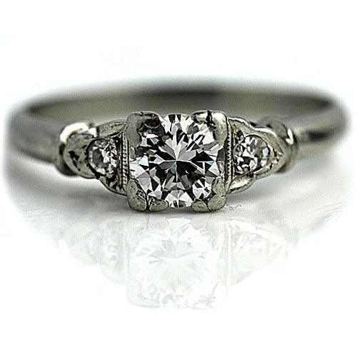 .55 Carat Vintage Diamond Platinum Engagement Ring