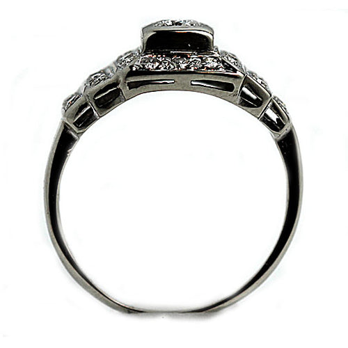 Art Deco White Gold Diamond Ring Circa 1940's