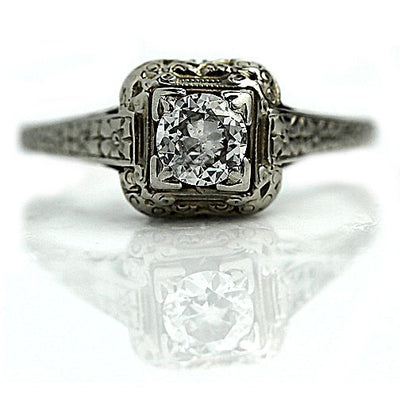Half Carat Art Deco Solitaire Engagement Ring