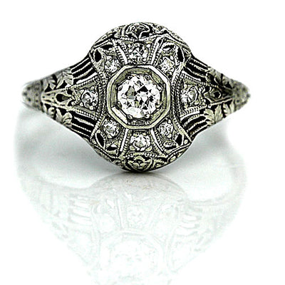 Edwardian Diamond  Engagement Ring