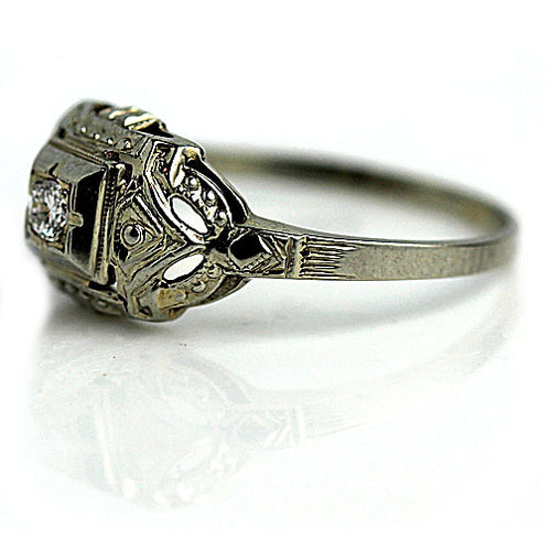 Delicate Filigree Engagement Ring