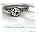 Art Deco Solitaire Ring .85 Carat in Platinum