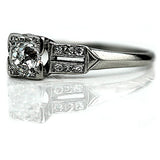 .85 Carat Diamond Platinum Engagement Ring
