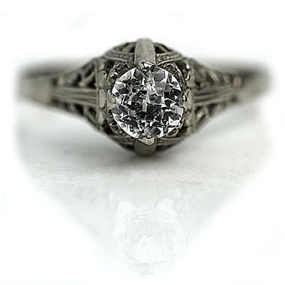 Unique Antique Diamond Solitaire Engagement ring