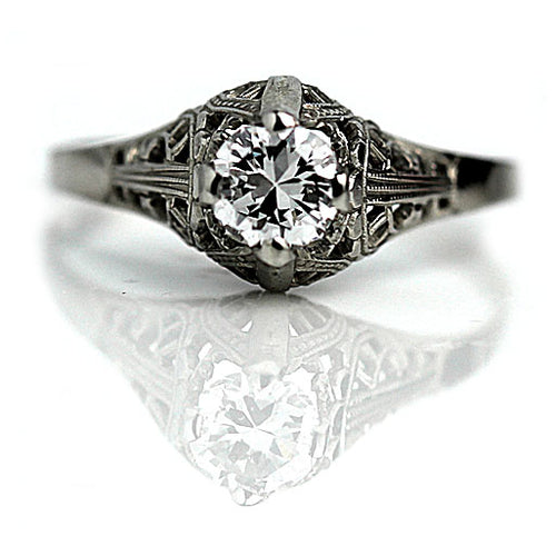 .39 Carat GIA Art Deco Engagement Ring