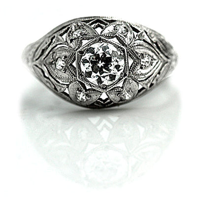 Antique Diamond Bombe Engagement Ring