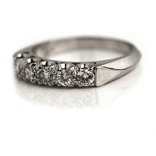 .65 Carat Mid-Century Diamond Wedding Ring